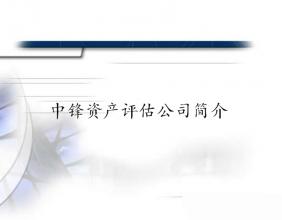 北京中锋资产评估有限责任公司